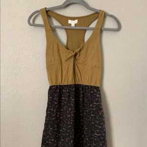 Silence+Noise Small Brown Animal Print Sundress